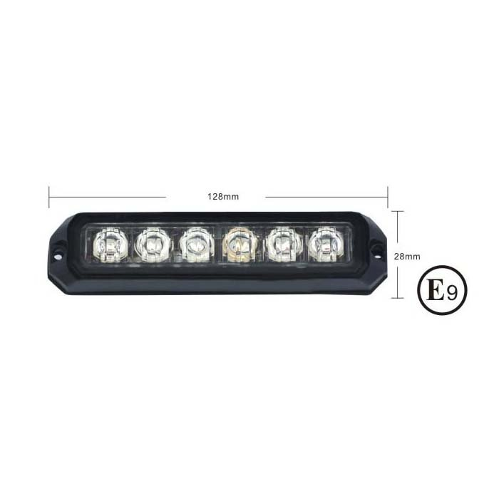 PREDATOR 6x3W LED, 12-24V, modrý, ECE R10 kf006E3Wblu